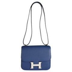 Hermès Bleu Saphir Swift Constance 18 PHW