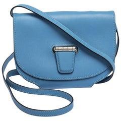 Hermes Blue Agate Swift Leather Mini Convoyeur Bag