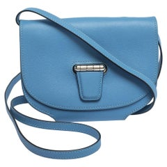 Hermes Blue Agate Swift Leather Mini Convoyeur Bag