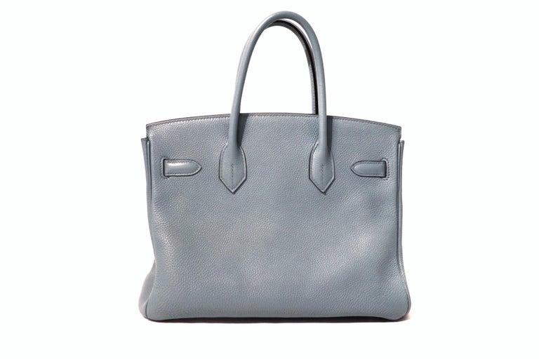 Hermès Blue Ciel Togo 30 cm Birkin Bag In Good Condition In Palm Beach, FL