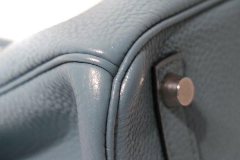 Women's Hermès Blue Ciel Togo 30 cm Birkin Bag
