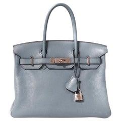Hermès Blue Ciel Togo 30 cm Birkin Bag