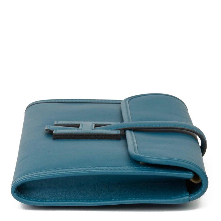 Hermès Blue Colvert Swift Leather Jige Elan 29 In Excellent Condition For Sale In Bishop's Stortford, Hertfordshire