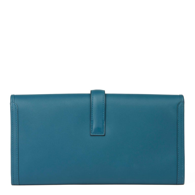 Women's Hermès Blue Colvert Swift Leather Jige Elan 29 For Sale