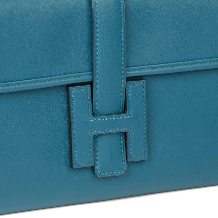 Hermès Blue Colvert Swift Leather Jige Elan 29 For Sale 1