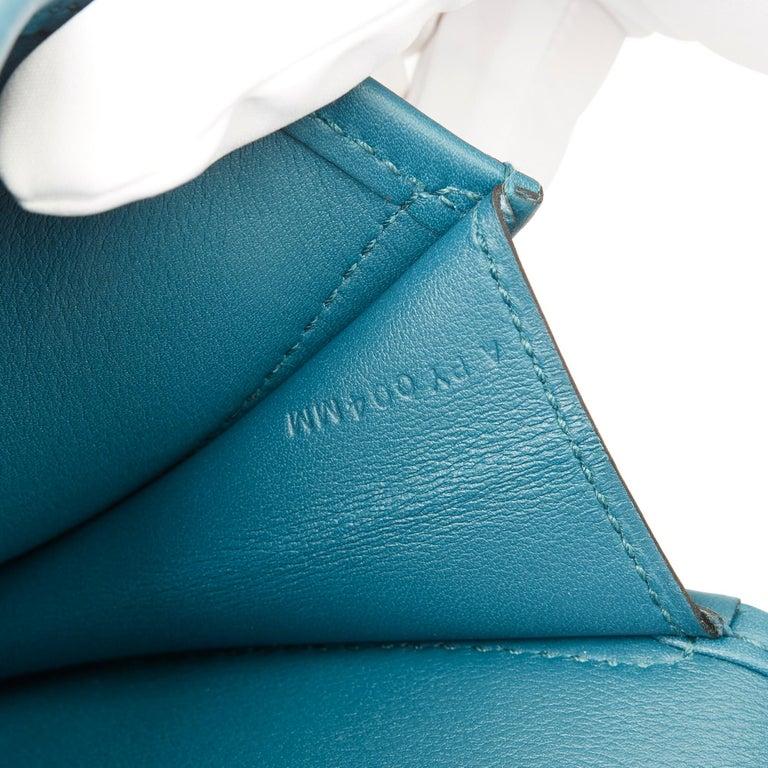 Hermès Blue Colvert Swift Leather Jige Elan 29 For Sale 4