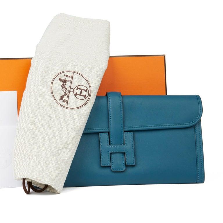 Hermès Blue Colvert Swift Leather Jige Elan 29 For Sale 5