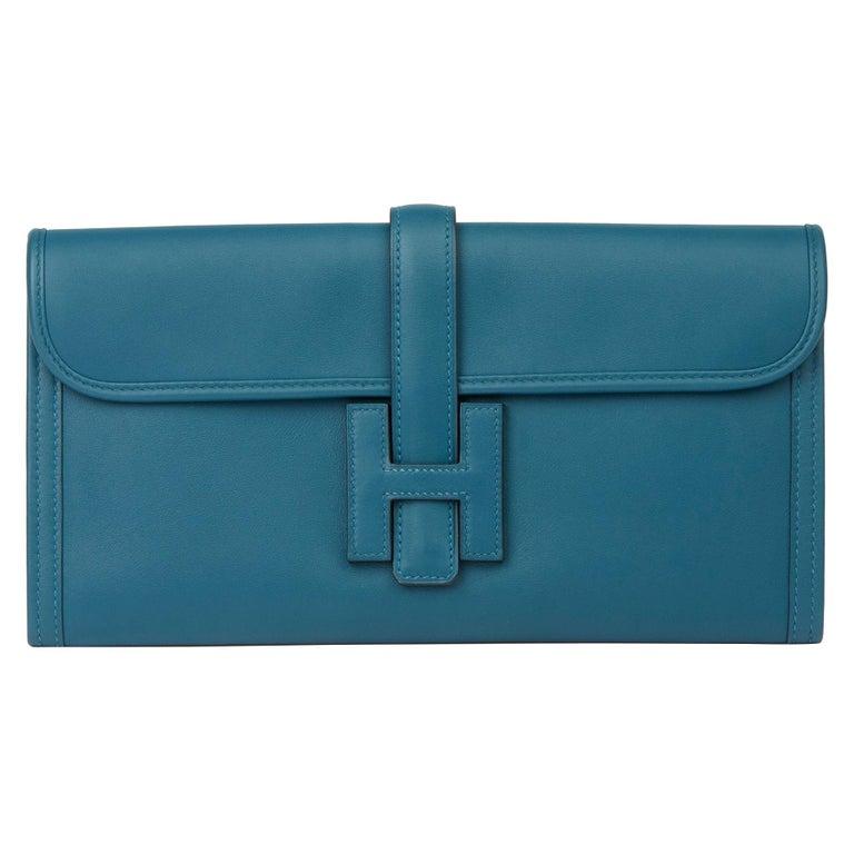 Hermès Blue Colvert Swift Leather Jige Elan 29 For Sale