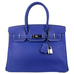 Hermès Blue Electric Epsom 30 cm Birkin with Palladium