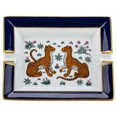 Hermes Blue Guepards Collectible Ashtray