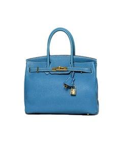 Hermes Blue Jean 30cm Birkin Bag