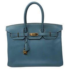 Hermes Blue Jean Birkin 35