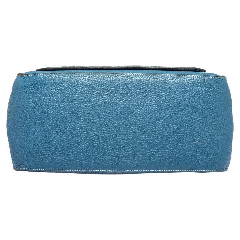 Hermes Blue Jean Togo Leather Palladium Hardware Jypsiere 34 Bag For Sale 1