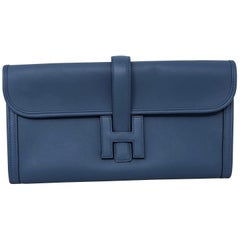 Hermes Blue Jige Clutch