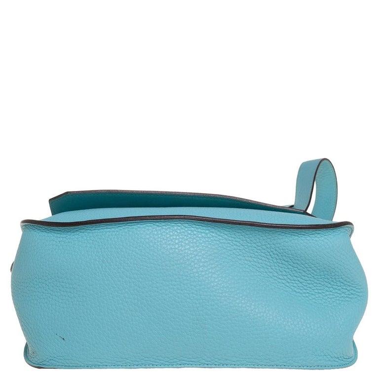 Hermes Blue Lagoon Togo and Swift Leather Palladium Hardware Jypsiere 28 Bag For Sale 1