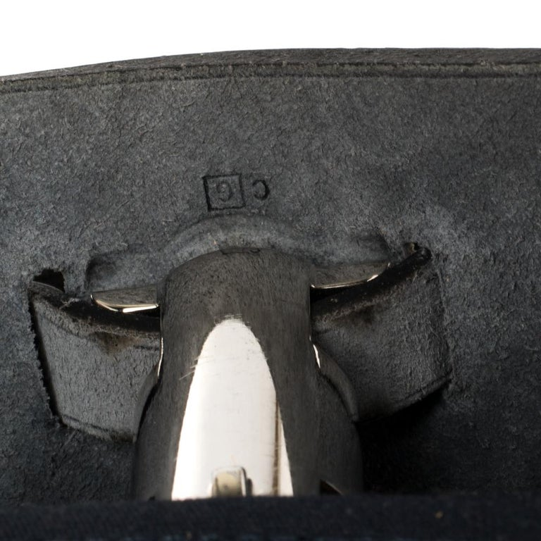 Hermes Blue Marine/Saphir Canvas and Leather Herbag Zip 31 Bag 2