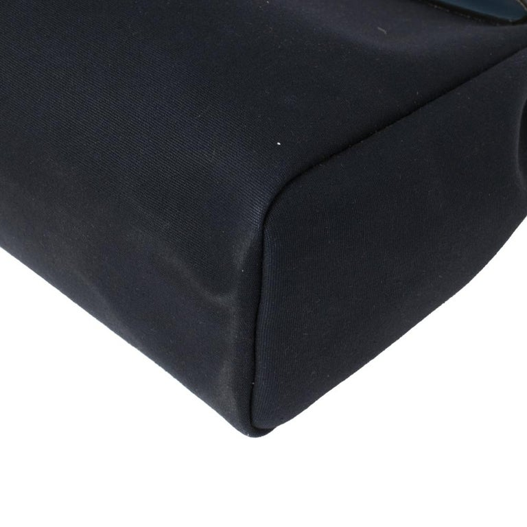 Hermes Blue Marine/Saphir Canvas and Leather Herbag Zip 31 Bag 4