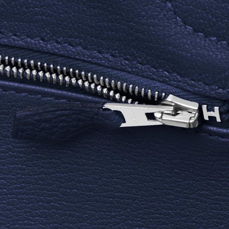 Hermes Blue Nuit Navy Jewel Tone Birkin 30cm Togo Palladium Bag Y Stamp, 2020 For Sale 6