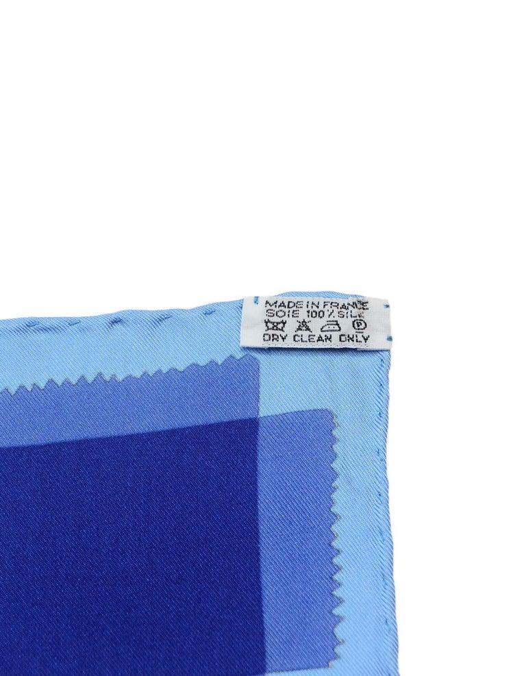 Hermes Blue/Orange Tout En Carre 90CM Silk Scarf For Sale 1