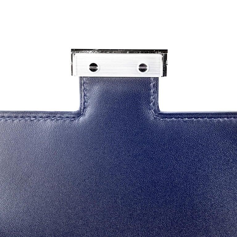 Hermès Blue Roi Ostrich Constance Mini 18 For Sale 8