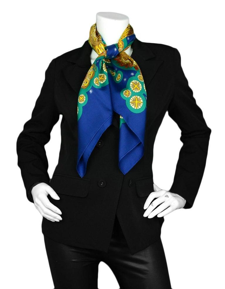 Hermes Blue Teal Gold