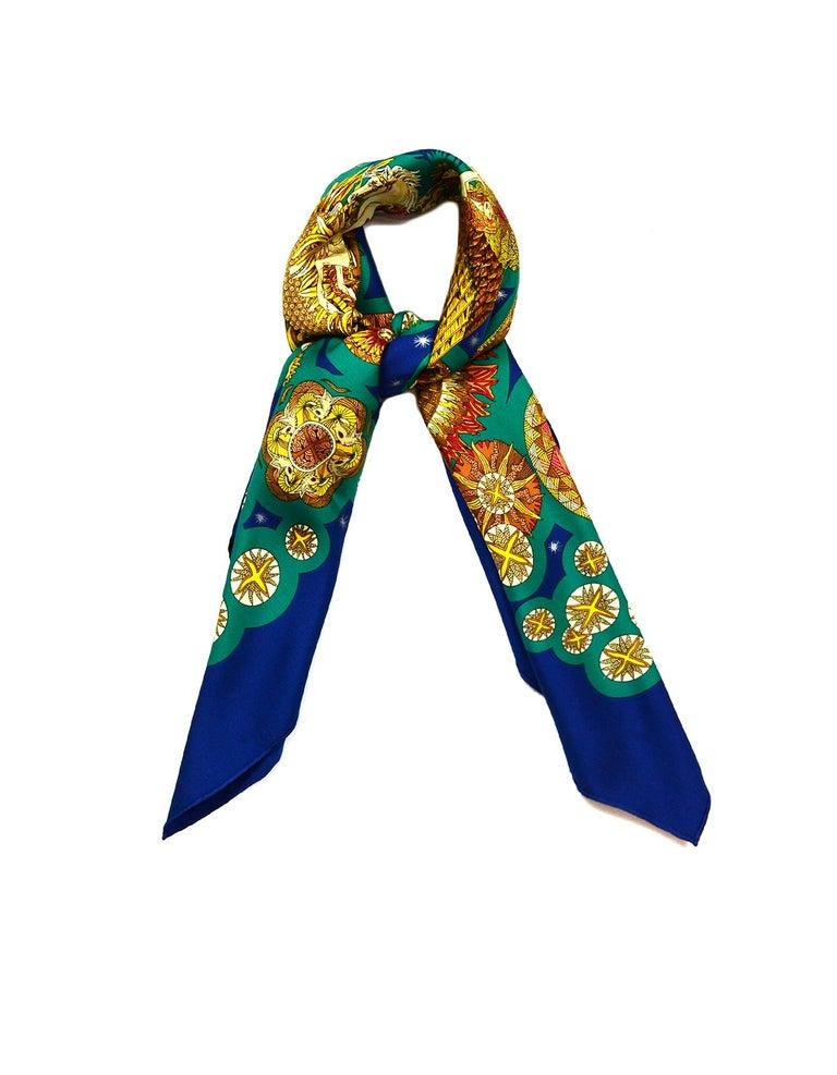 Hermes Blue, Teal, Gold