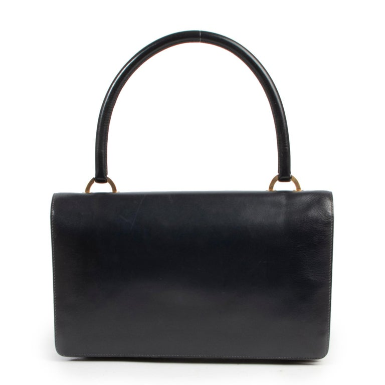 Hermès Blue Vintage Ring  Bag In Good Condition For Sale In Antwerp, BE