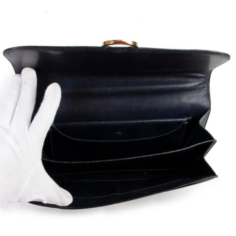 Hermès Blue Vintage Ring  Bag For Sale 1