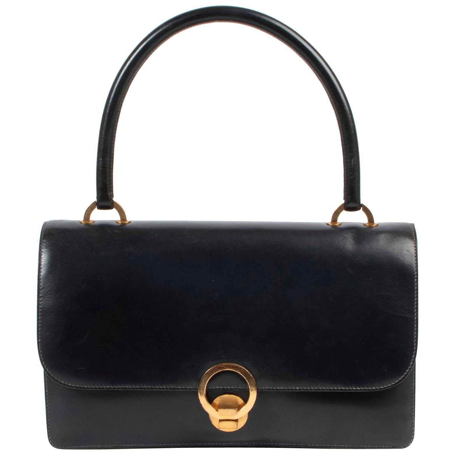 Hermès Blue Vintage Ring  Bag