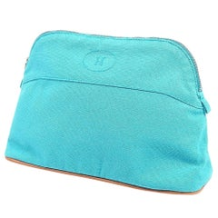 HERMES Boledo pouch MM Womens pouch Light blue