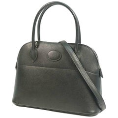 HERMES Boledo27 Womens handbag black x silver hardware