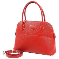 HERMES Boledo27 Womens handbag Rouge Casaque xSV hardware