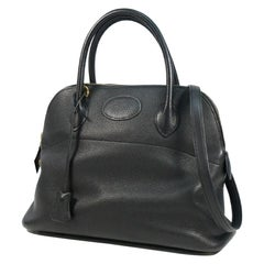 HERMES Boledo31 Womens handbag black x gold hardware
