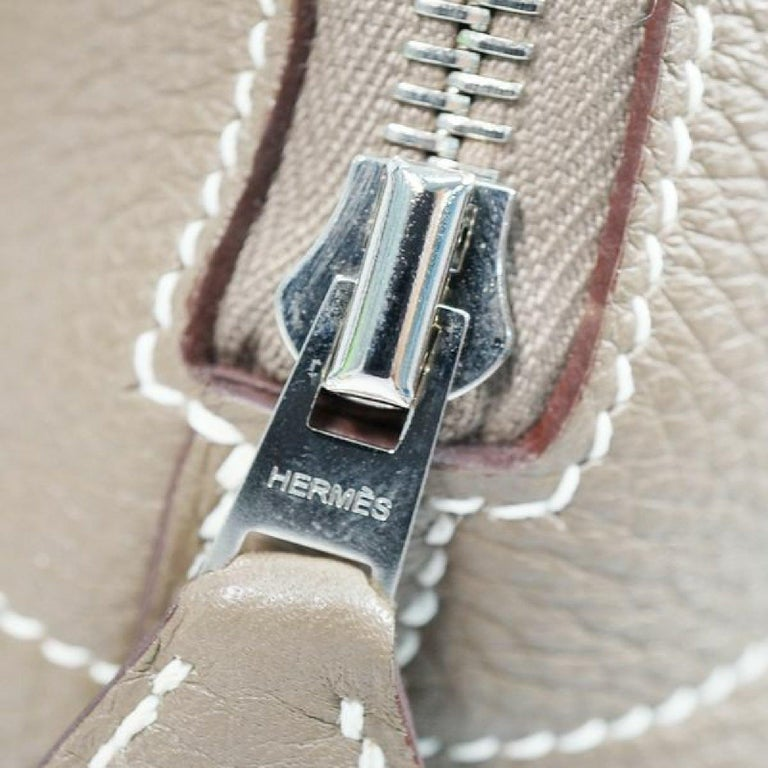 HERMES Boledo31 Womens handbag Etooope x silver hardware For Sale 5