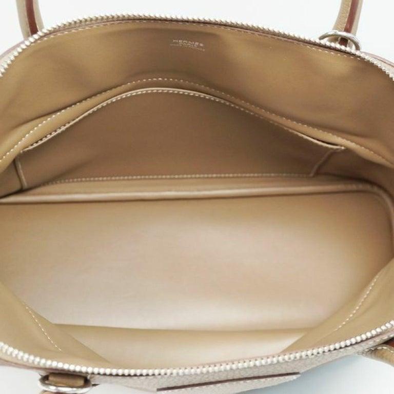 HERMES Boledo31 Womens handbag Etooope x silver hardware For Sale 6