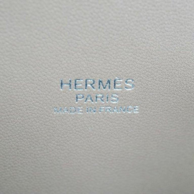 HERMES Boledo31 Womens handbag Etooope x silver hardware For Sale 7
