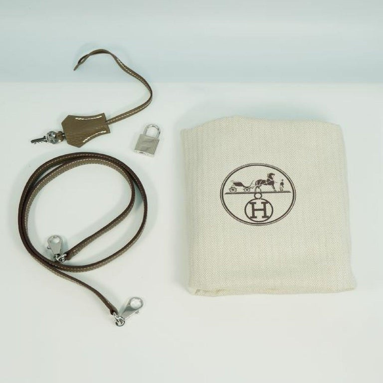 HERMES Boledo31 Womens handbag Etooope x silver hardware For Sale 9