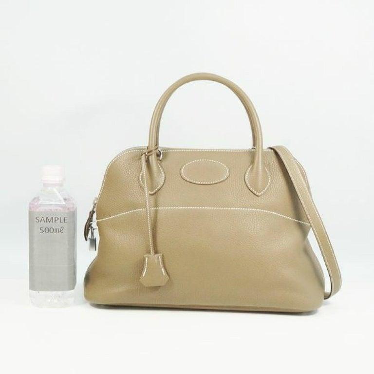 HERMES Boledo31 Womens handbag Etooope x silver hardware For Sale 10