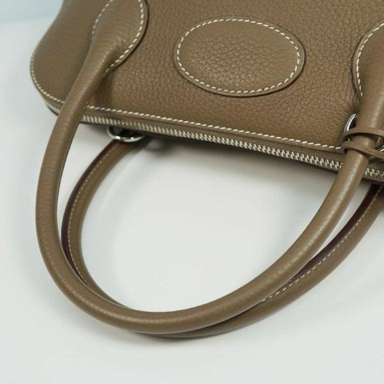 HERMES Boledo31 Womens handbag Etooope x silver hardware For Sale 2