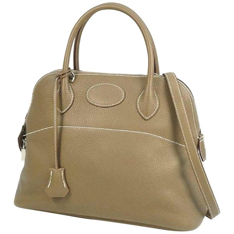 HERMES Boledo31 Womens handbag Etooope x silver hardware For Sale