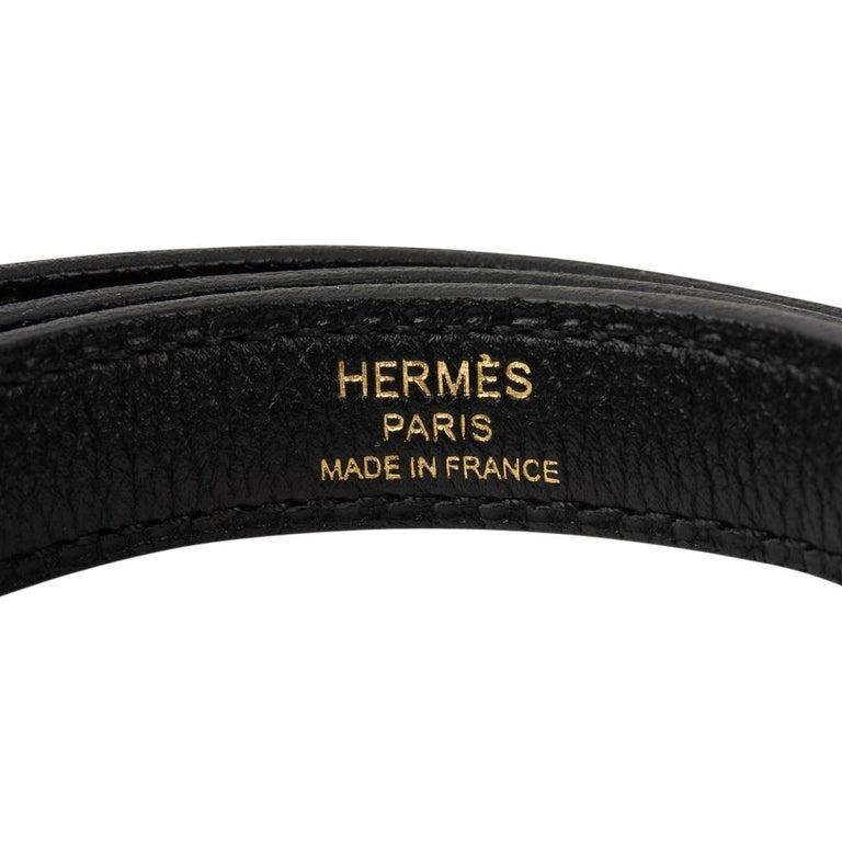 Hermes Bolide 1923 Bag Black Taurillon Novillo Leather Gold Hardware For Sale 8