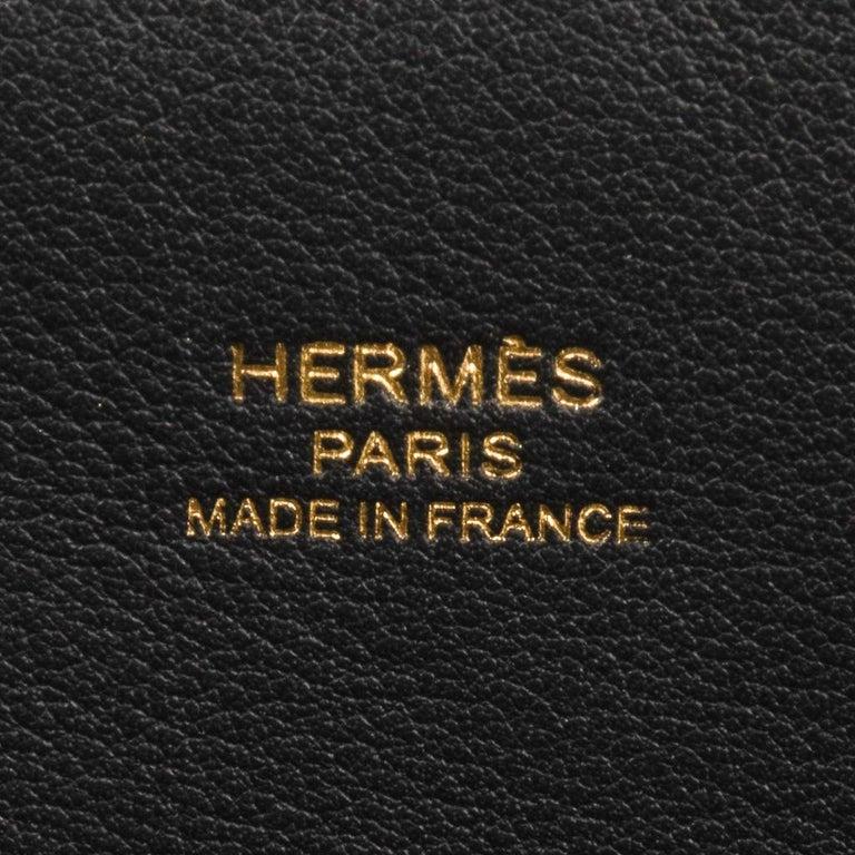 Hermes Bolide 1923 Bag Black Taurillon Novillo Leather Gold Hardware For Sale 9