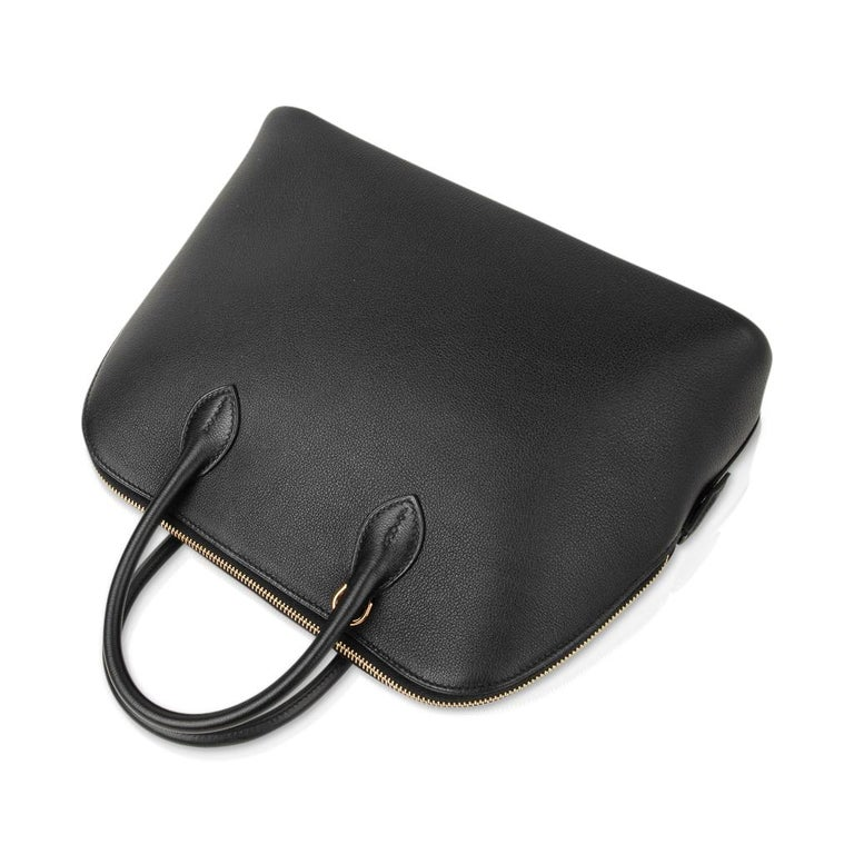 Women's Hermes Bolide 1923 Bag Black Taurillon Novillo Leather Gold Hardware For Sale