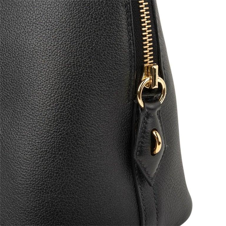 Hermes Bolide 1923 Bag Black Taurillon Novillo Leather Gold Hardware For Sale 2
