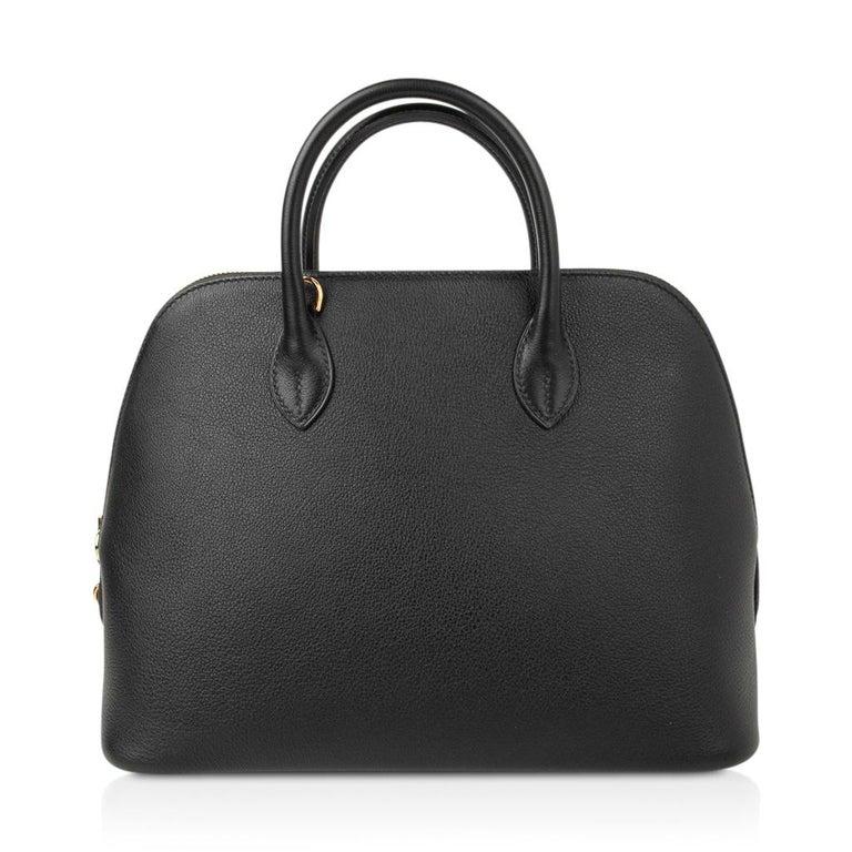 Hermes Bolide 1923 Bag Black Taurillon Novillo Leather Gold Hardware For Sale 3