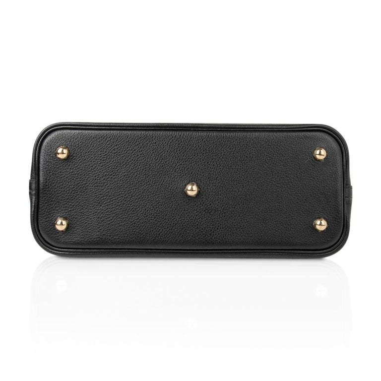 Hermes Bolide 1923 Bag Black Taurillon Novillo Leather Gold Hardware For Sale 4