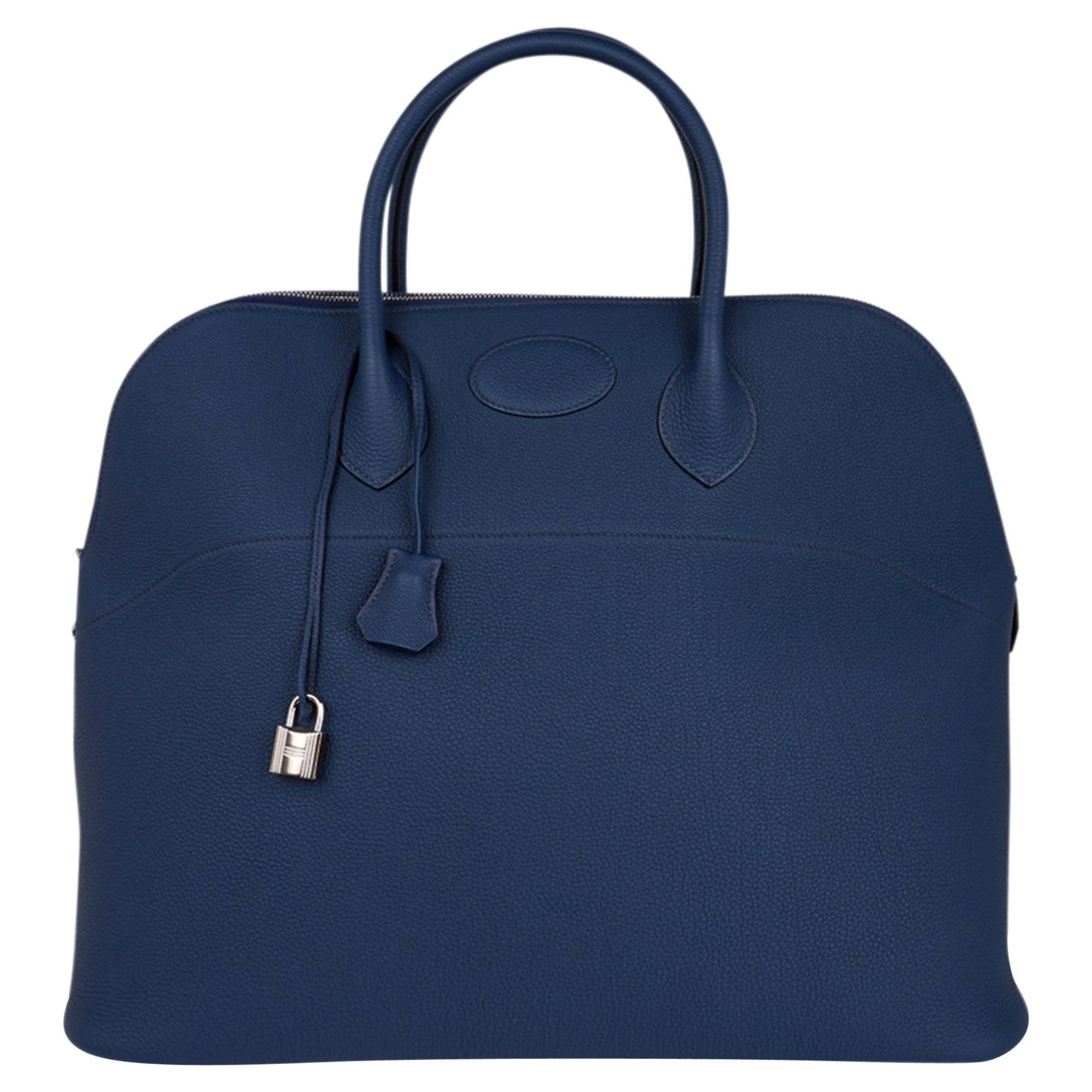 Hermes Bolide 45 Bag Blue de Prusse Togo Weekender New w/Box