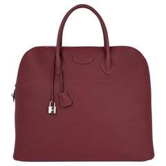 Hermes Bolide 45 Bag Rouge H Togo Weekender New w/Box