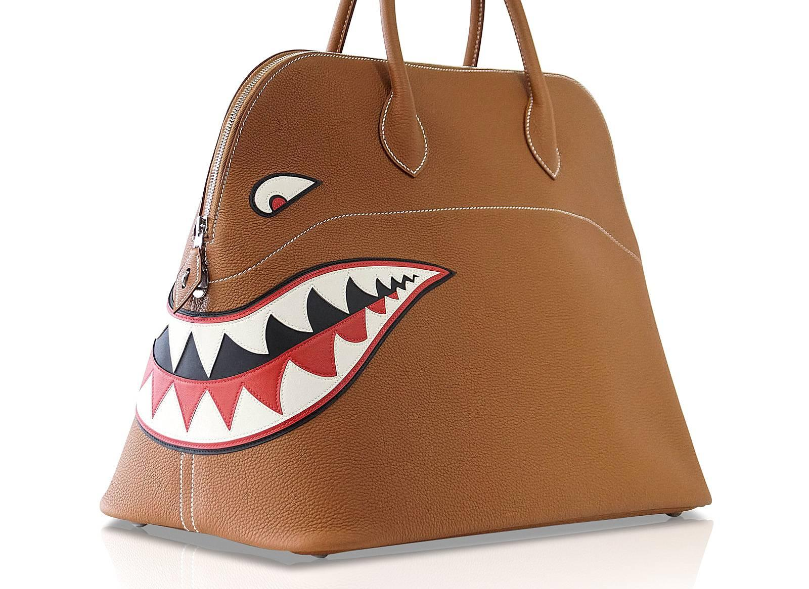 462b396f9bee Hermes Bolide Bag Shark Monster Bolide Gold Palladium Limited Edition For  Sale at 1stdibs