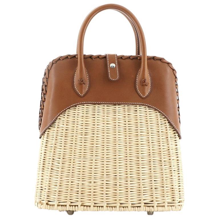 Hermes Bolide Picnic Bag Barenia and Wicker